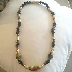 BOHEMIAN Ethnic Hawaiian Statement Necklace